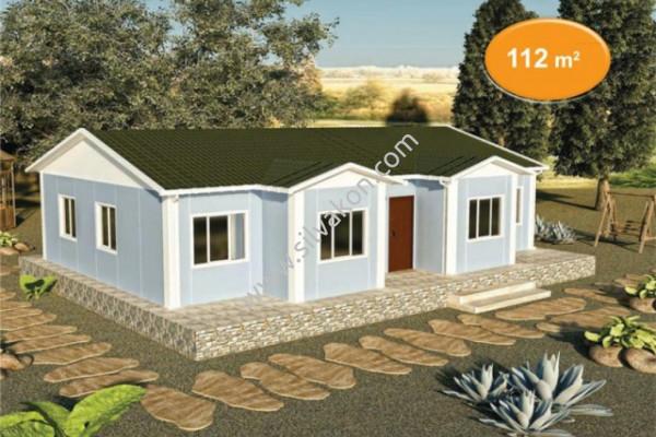 112 m² Tek Katlı Prefabrik Konut  01