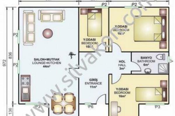112 m² Tek Katlı Prefabrik Konut  02