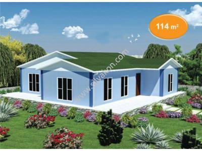 114 m² Tek Katlı Prefabrik Konut