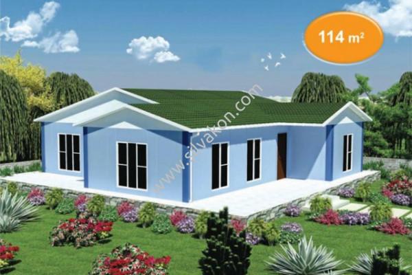 114 m² Tek Katlı Prefabrik Konut  02