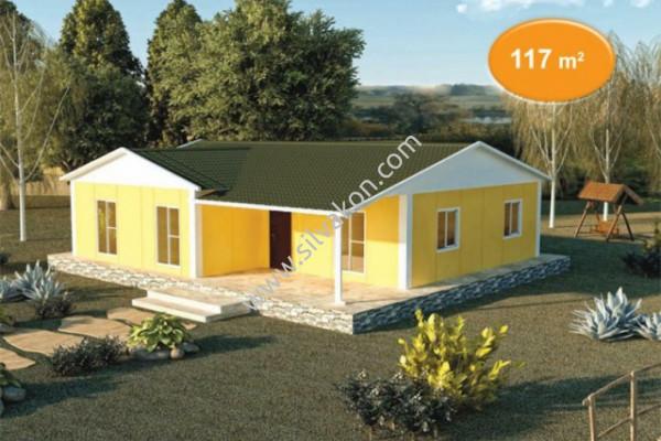 117 m² Tek Katlı Prefabrik Konut 01