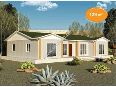 129 m² Tek Katlı Prefabrik Konut