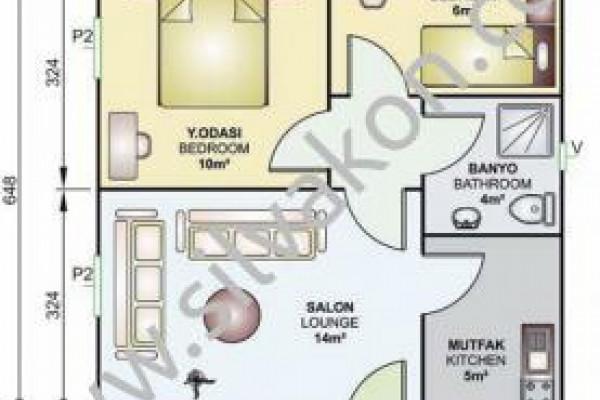 45 m² Tek Katlı Prefabrik Konut 02