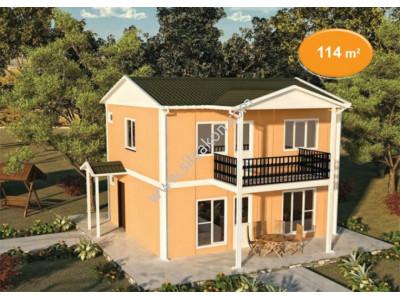 114m² Çift katlı Prefabrik ev