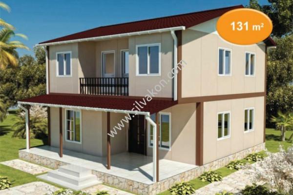131 m² Çift katlı Prefabrik ev 01
