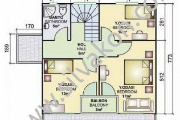 131 m² Çift katlı Prefabrik ev 03