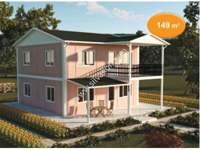 149 m² Çift katlı Prefabrik ev