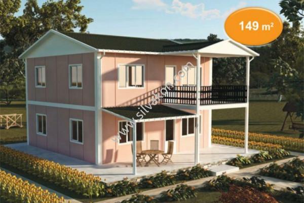 149 m² Çift katlı Prefabrik ev 01