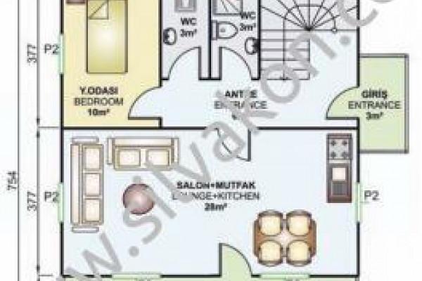 149 m² Çift katlı Prefabrik ev 02