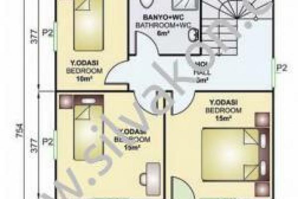 149 m² Çift katlı Prefabrik ev 03