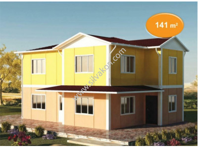 141 m² Çift katlı Prefabrik ev