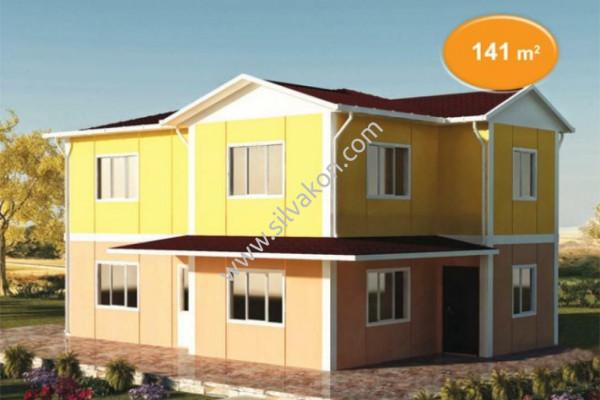 141 m² Çift katlı Prefabrik ev 01