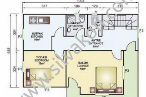 141 m² Çift katlı Prefabrik ev 02