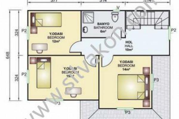 141 m² Çift katlı Prefabrik ev 03