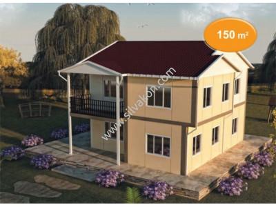 150 m² Çift Katlı Prefabrik Ev