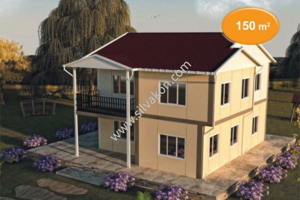 150 m² Çift Katlı Prefabrik Ev 02