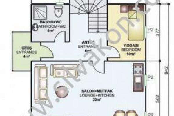 150 m² Çift Katlı Prefabrik Ev 01