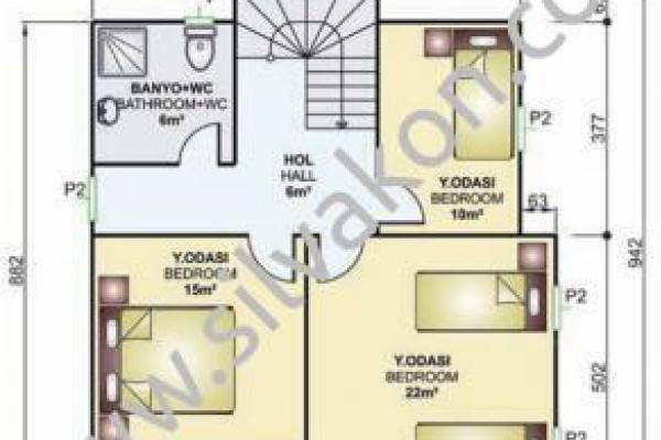 150 m² Çift Katlı Prefabrik Ev 03