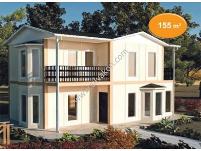155 m² Çift Katlı Prefabrik Ev