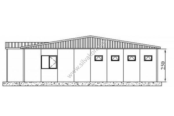 386 m2 Prefabrik Ofisler 01