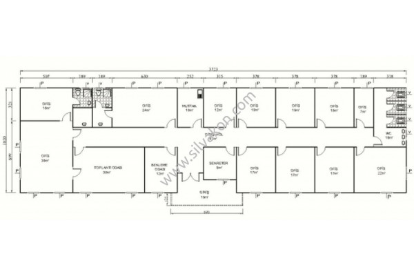 386 m2 Prefabrik Ofisler 02