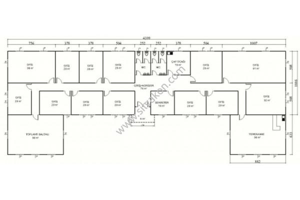 562 m2 Prefabrik Ofis 02