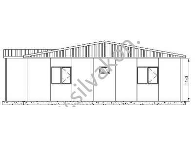 128 m2 Prefabrik Ofis