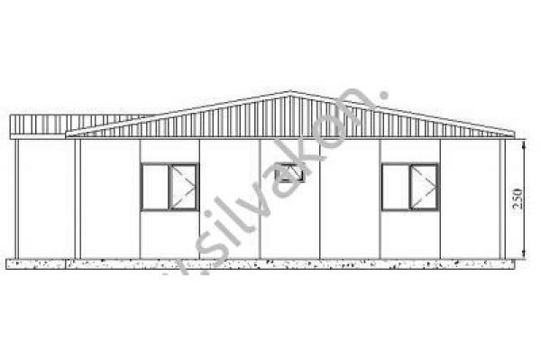 128 m2 Prefabrik Ofis 01