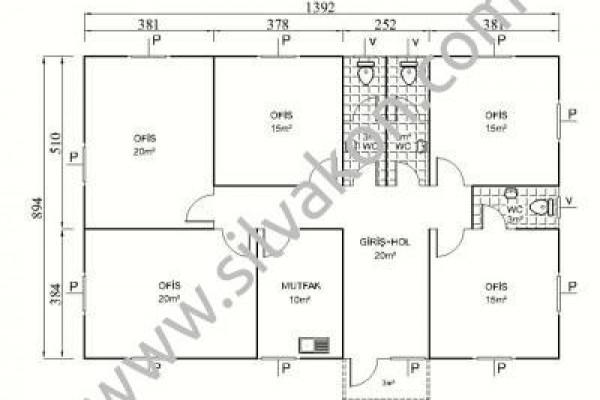 128 m2 Prefabrik Ofis 03