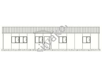 139 m2 Prefabrik Ofis