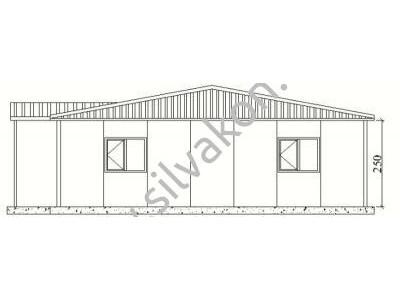 149 m2 Prefabrik Ofisler
