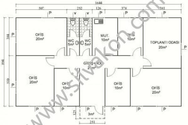 149 m2 Prefabrik Ofisler 02