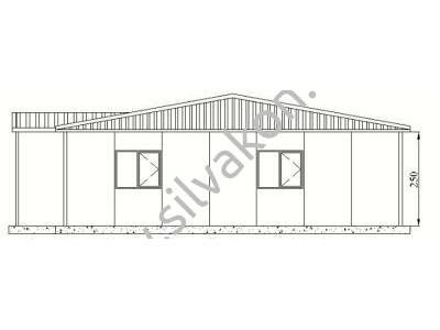 150 m2 Prefabrik Ofisler