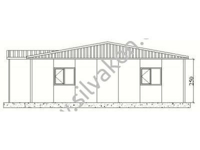 159 m2 Prefabrik Ofis