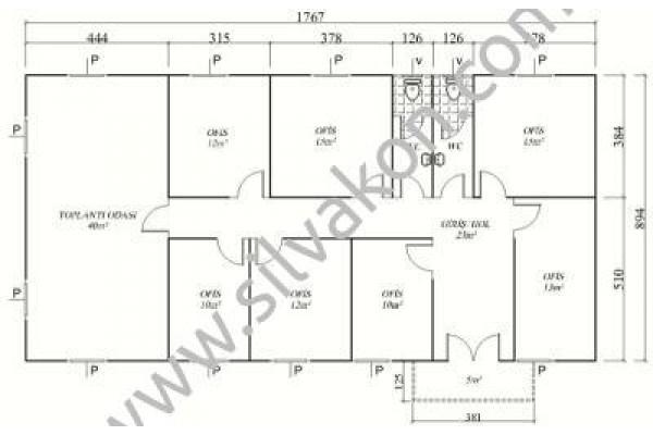 159 m2 Prefabrik Ofis 03