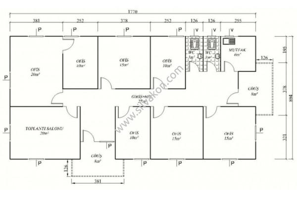 161 m2 Prefabrik Ofis 03