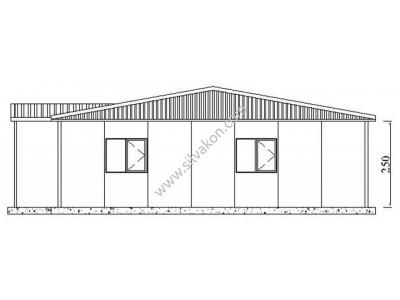 172 m2 Prefabrik Ofis