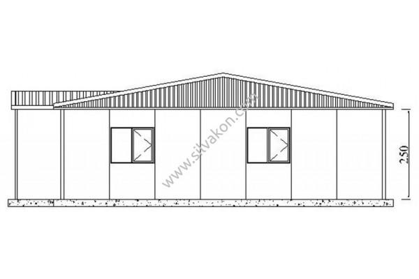 172 m2 Prefabrik Ofis 02