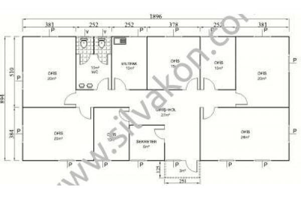 173 m2 Prefabrik Ofis 03