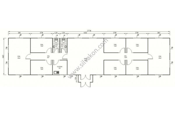 181 m2 Prefabrik Ofis 02