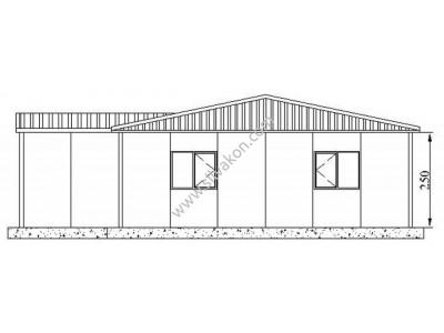 193 m2 Prefabrik Ofisler