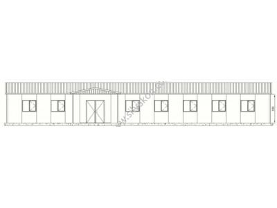 208 m2 Prefabrik ofis