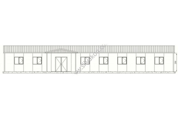 208 m2 Prefabrik ofis 01