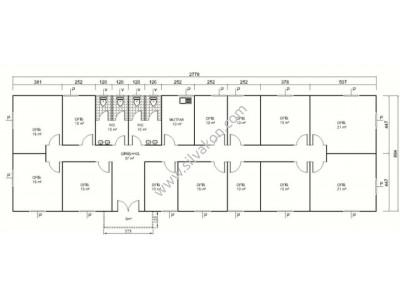 252 m2 Prefabrik Ofis