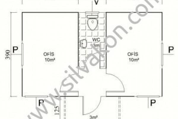 28m² Tek Katlı Prefarik Ofis  03