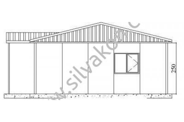 101 m2 Prefabrik Ofis 01