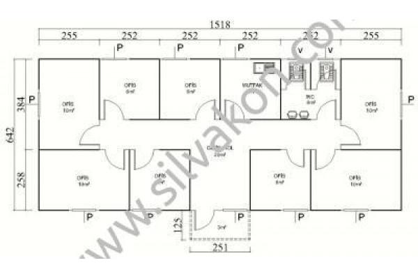 101 m2 Prefabrik Ofis 02