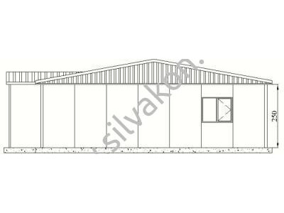 116 m2 Prefabrik Ofisler
