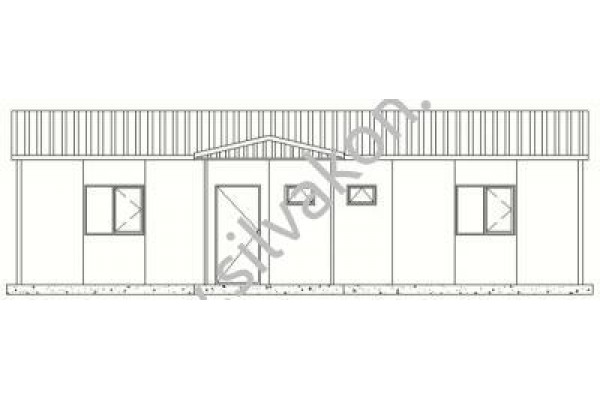 116 m2 Prefabrik Ofisler 02
