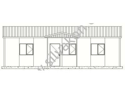 81 m2 Prefabrik Ofisler